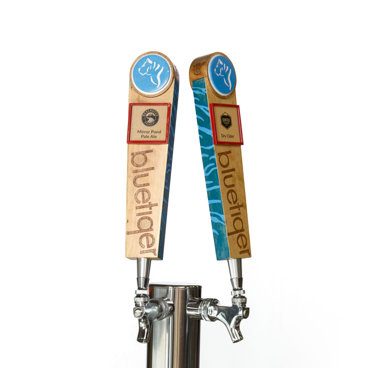 Blue Tiger Tap Handles