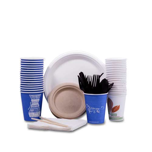 Compostable Plates Cups Cutlery