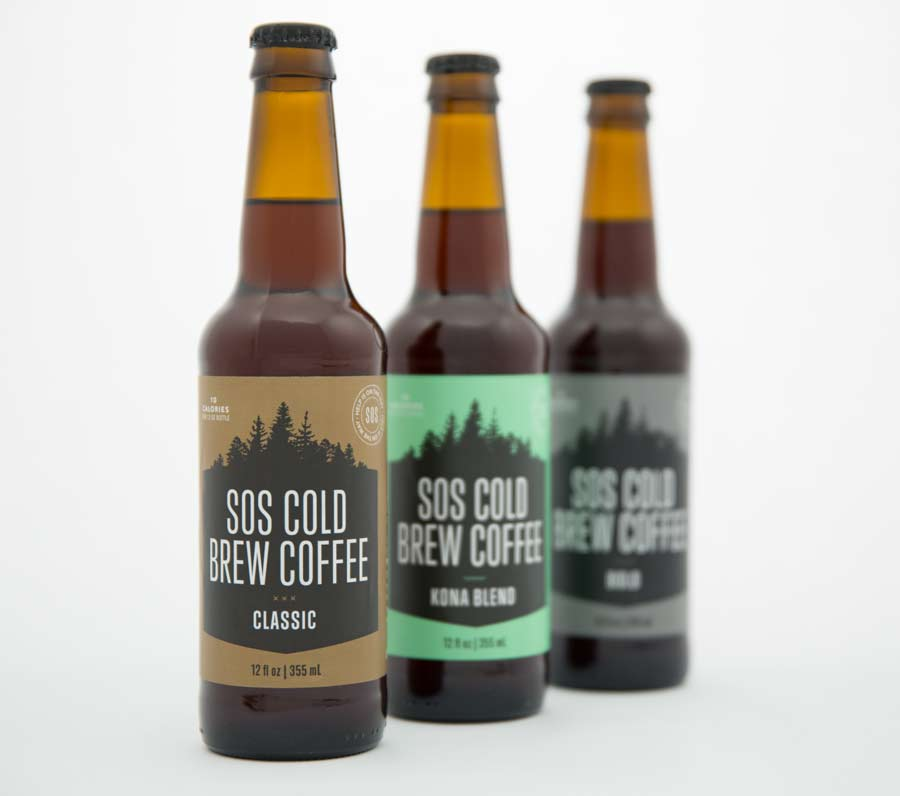 SOS Cold Brew Bottles Classic Kona Bold